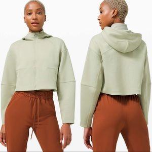 Lululemon Soft Oversized Zip Cropped Hoodie Green